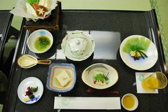 Traditional vegetarian Japanese cuisine Stock Images