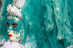 Free Traditional Venetian Carnival Costume Mask Stock Photo - 109148650
