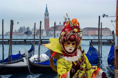 Traditional Venetian carnival mask Royalty Free Stock Photo
