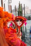 Traditional Venetian carnival mask Stock Images