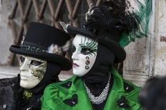 Traditional Venetian carnival mask Stock Photos