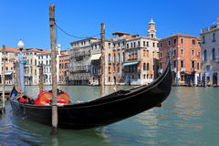 Traditional venetian gondola Stock Images