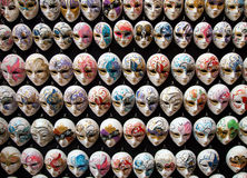 Traditional venetian masks Stock Photos