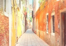 Traitional Venice street, Italy Stock Photo