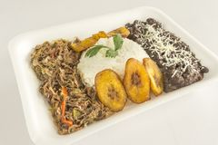 Traditional Venezuelan dish called Pabellon Criollo stock photos