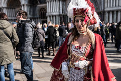 Traditional Venice carnival 2017 Royalty Free Stock Photography