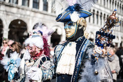Traditional Venice carnival 2017 Stock Photography