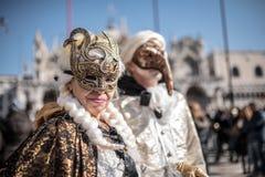 Traditional Venice carnival 2017 Stock Photos