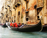 Traditional Venice gandola ride Royalty Free Stock Photography