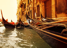 Traditional Venice gondola ride Royalty Free Stock Photos