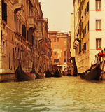 Traditional Venice gondola ride Stock Images