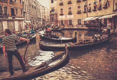 Traditional Venice gondola ride Stock Image