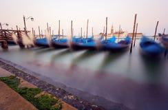 Traditional Venice gondolas Royalty Free Stock Photography