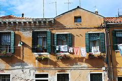 Traditional Venice laundry drying Stock Photography