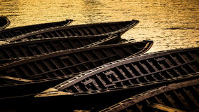 Traditional vessel ladja, in Neretva valley in southern Croatia Stock Photography