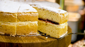 Traditional Victoria sponge cake Royalty Free Stock Images