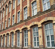 Traditional Victorian Textile Mill Window Architecture  Royalty Free Stock Photography