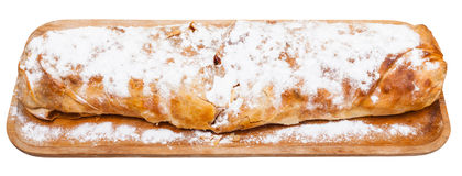 Traditional viennese apple strudel on wooden board Stock Photography