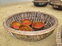 Traditional Viet Nam fishing boats.
