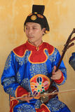 Traditional Vietnam music performance event in Hue. Traditional Vietnam music performance event, located in Hue, on April 9th, 2015. Vietnam people perform Royalty Free Stock Images