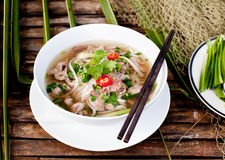 Traditional Vietnamese beef soup pho Stock Photography