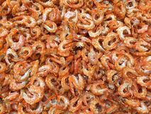 Traditional Vietnamese cuisine: dried shrimp. Vietnamese seafood for Tet event royalty free stock photography