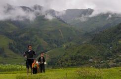 Traditional Vietnamese family at Sapa, Vietnam Royalty Free Stock Photos