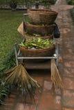 Traditional Vietnamese gardening tools royalty free stock image