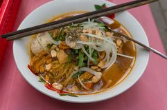 Traditional Vietnamese pho soup. Asian street food meal royalty free stock photography
