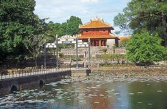 Traditional Vietnamese Style Building Royalty Free Stock Photo