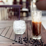 Traditional Vietnamese, Thai Ice coffee with beans. Royalty Free Stock Photography