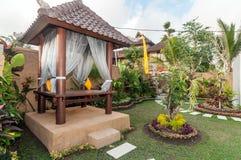 Traditional villa gazebo outdoor Stock Photo