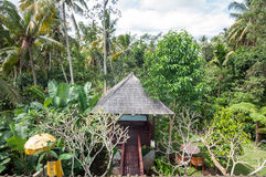 Traditional villa gazebo outdoor Royalty Free Stock Photo