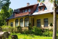 Traditional villa named The Lutnia in Zakopane Royalty Free Stock Photos