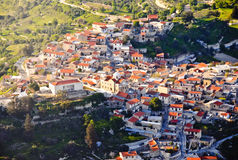 Traditional village aerial view Stock Images