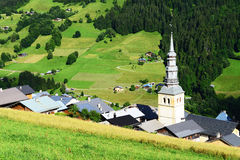 Traditional village in the Alps Royalty Free Stock Photography
