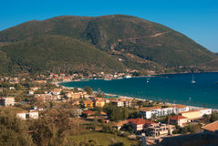 Traditional village Basiliki on Lefkas island Royalty Free Stock Photo