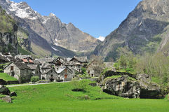 Traditional Village,Bavona Valley,Switzerland Royalty Free Stock Images
