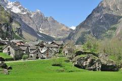 Traditional Village,Bavona Valley,Switzerland Royalty Free Stock Images