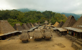 Traditional village Bena on Flores Island Indonesia. Traditional village Bena village on Flores Island Indonesia Asia Royalty Free Stock Photography