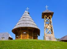 Traditional village Drvengrad Mecavnik - Serbia Stock Images