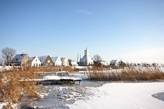 Traditional village Durgerdam in the Netherlands. Traditional village Durgerdam in winter in the Netherlands Royalty Free Stock Photos