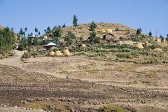 Traditional village in Ethiopia. Stock Photo
