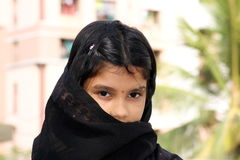 Traditional village girl Royalty Free Stock Photo