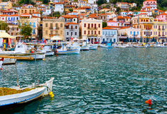 Traditional village of Gytheio in Greece Royalty Free Stock Photography