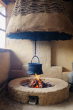 Traditional village hearth Stock Images
