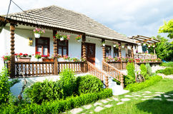 Traditional village house in Moldova Stock Photo