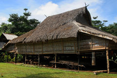 Traditional village house in South Laos Royalty Free Stock Photos
