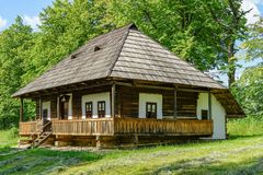 Traditional village house at Targu Neamt Royalty Free Stock Photo