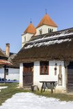 Village houses in Ocsa. Traditional village houses in Ocsa, Hungary Royalty Free Stock Photo